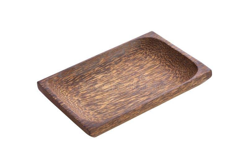 Bandeja de madeira asiática foto de stock