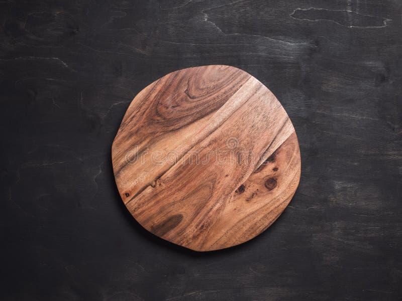 Bandeja de madeira redonda fotos de stock
