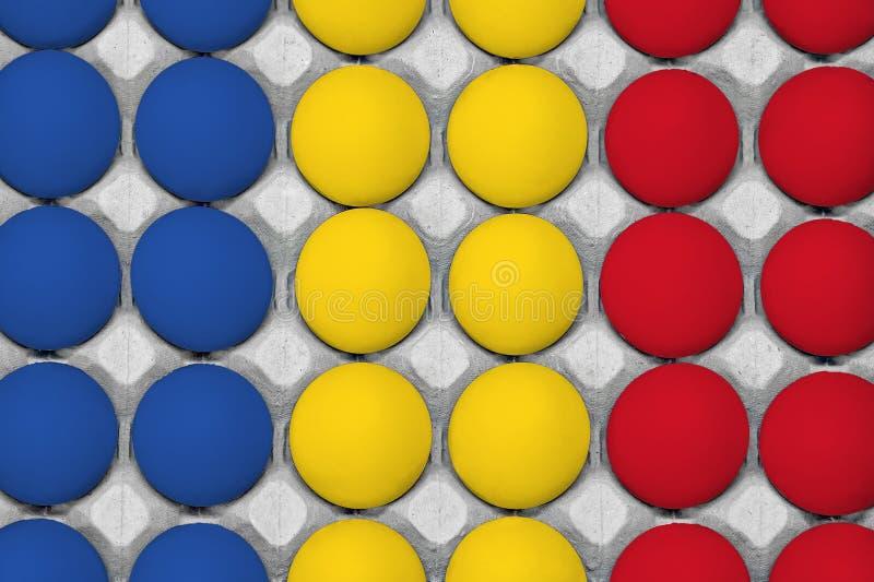 Bandeja de ovos da galinha Vista de acima ilustração stock