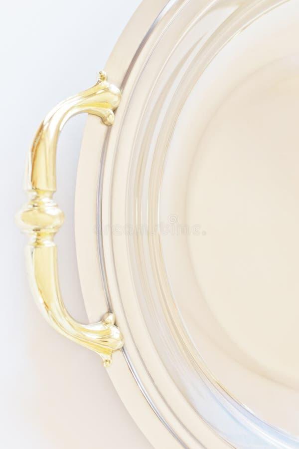 Bandeja de prata velha foto de stock royalty free