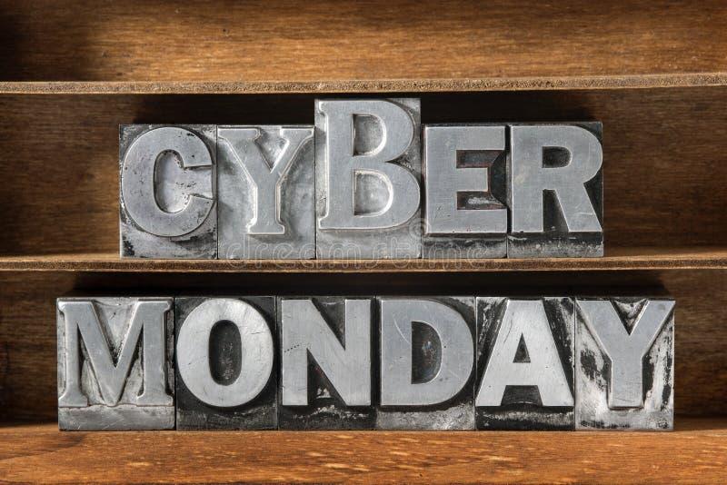 Bandeja de segunda-feira do Cyber imagem de stock royalty free