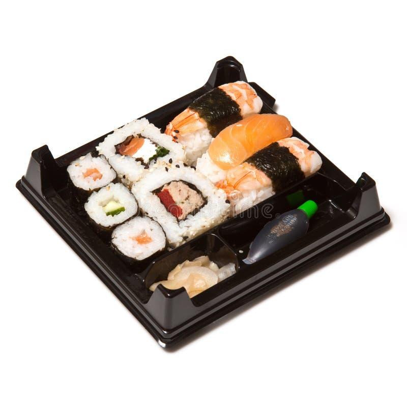 Bandeja de sushi foto de archivo