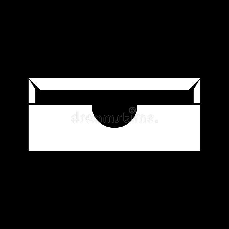 Bandeja del papel inmóvil es icono blanco libre illustration