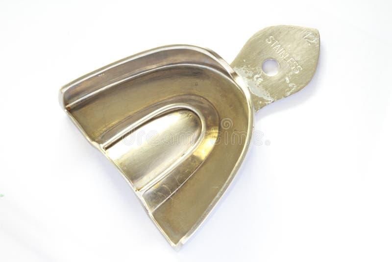 Bandeja dental del acero inoxidable fotografía de archivo