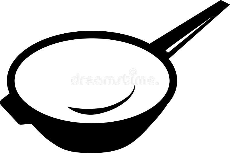 Bandeja do frigideira chinesa do ícone para cozinhar ilustração do vetor