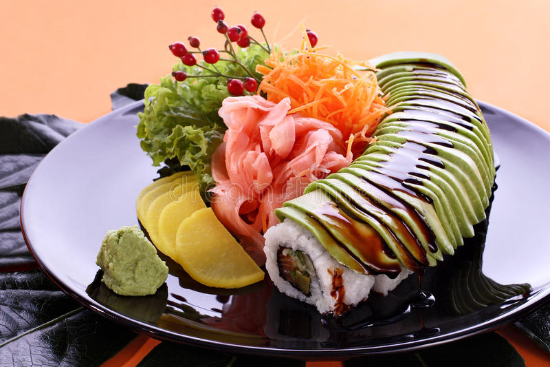 Bandeja do partido do sushi fotos de stock royalty free