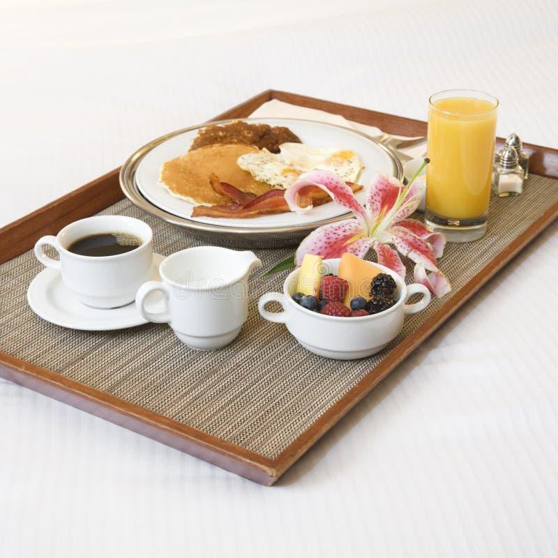 Bandeja do pequeno almoço. foto de stock royalty free