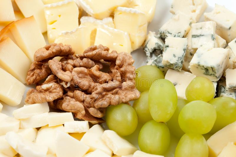 Bandeja do queijo fotografia de stock