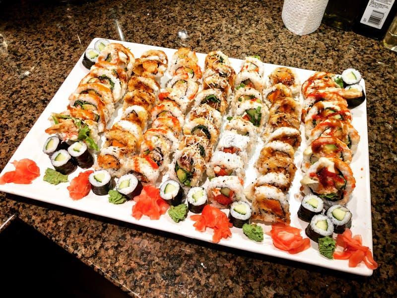 Bandeja do sushi imagem de stock royalty free