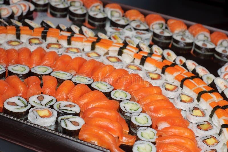 Bandeja do sushi fotos de stock
