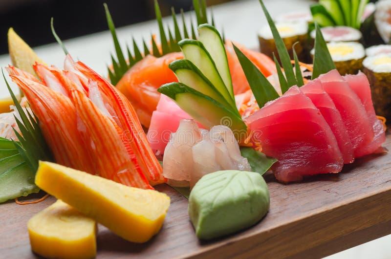 Bandeja do sushi fotografia de stock