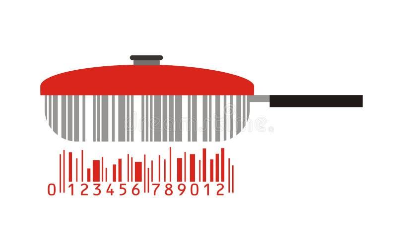 Bandeja e código de barras ilustração do vetor