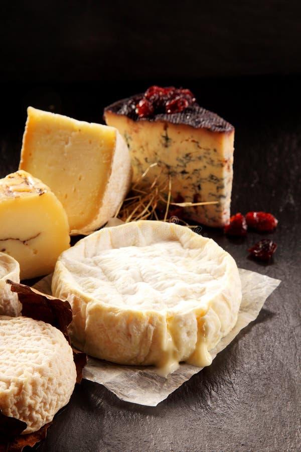 Bandeja gourmet do queijo imagem de stock royalty free