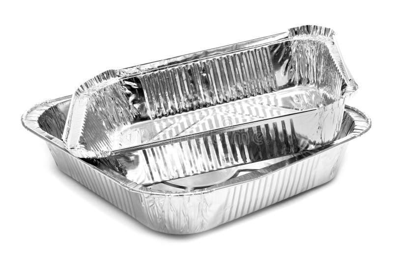 Bandejas da folha de alumínio fotografia de stock royalty free