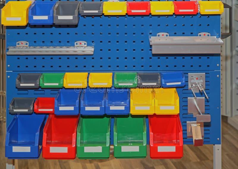 Bandejas do armazenamento fotografia de stock