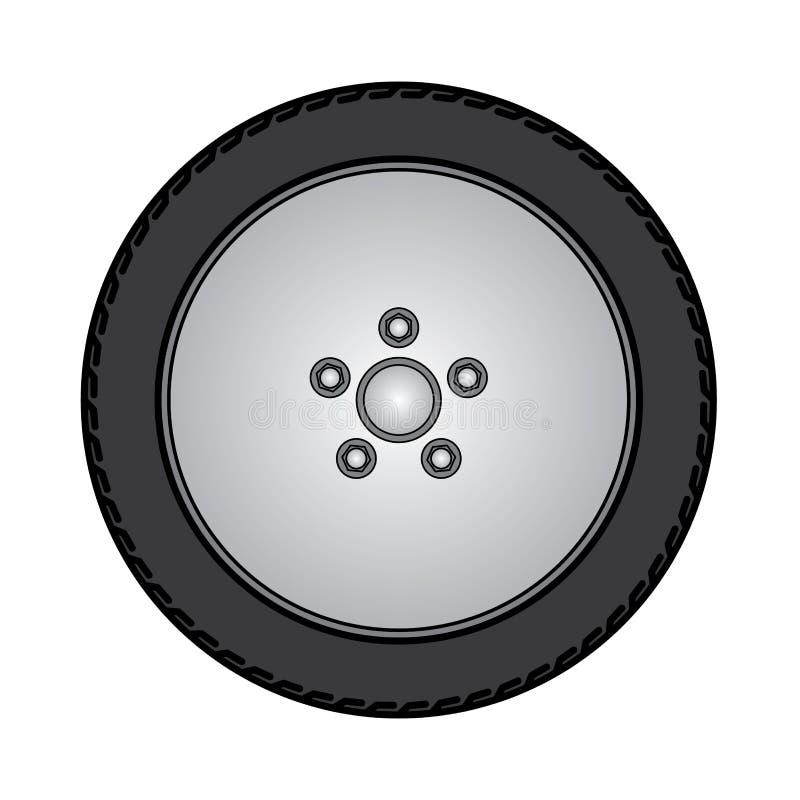 Banden en wielen Vectorillustratie EPS10 vector illustratie