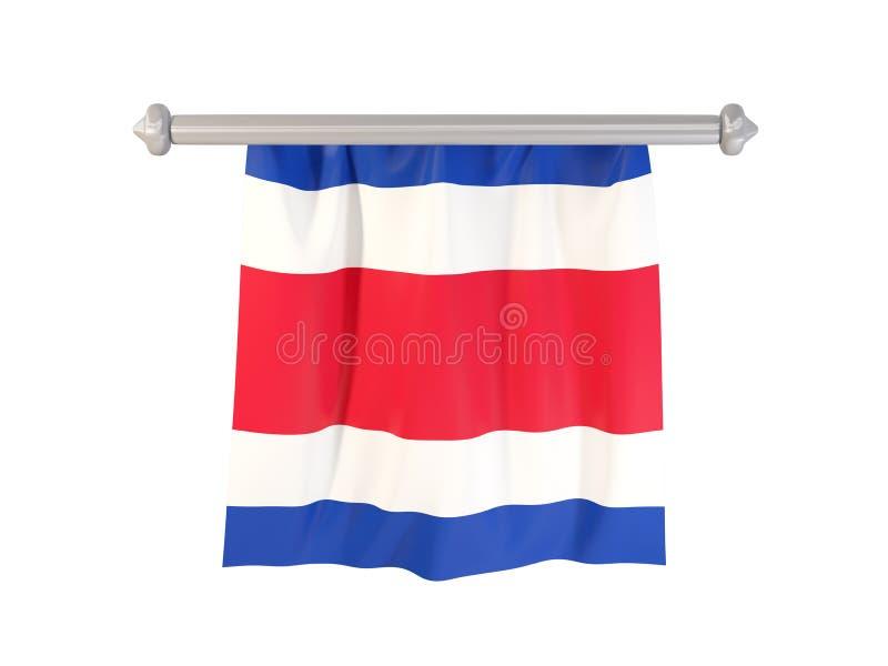 Banderín con la bandera de Costa Rica stock de ilustración