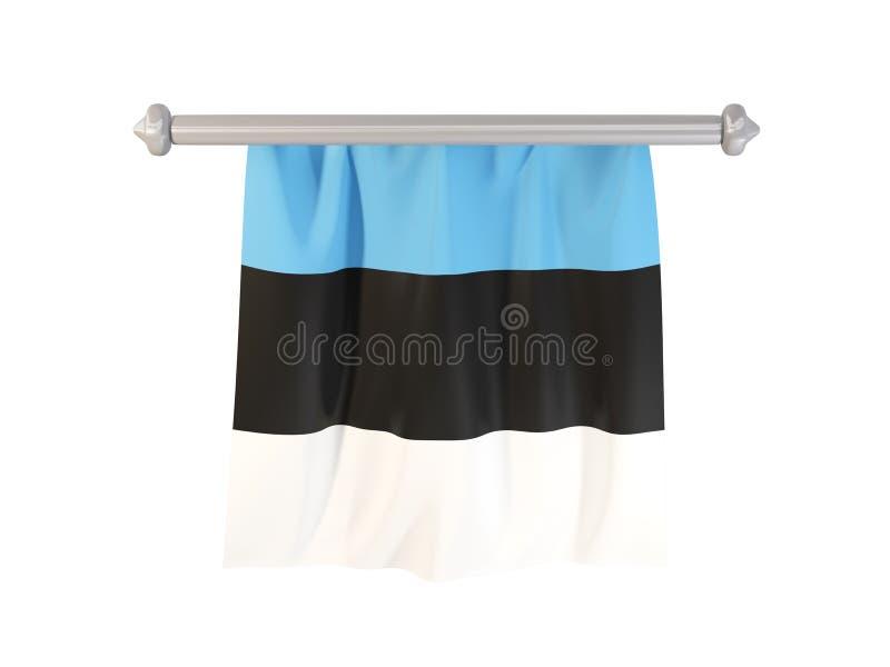 Banderín con la bandera de Estonia stock de ilustración