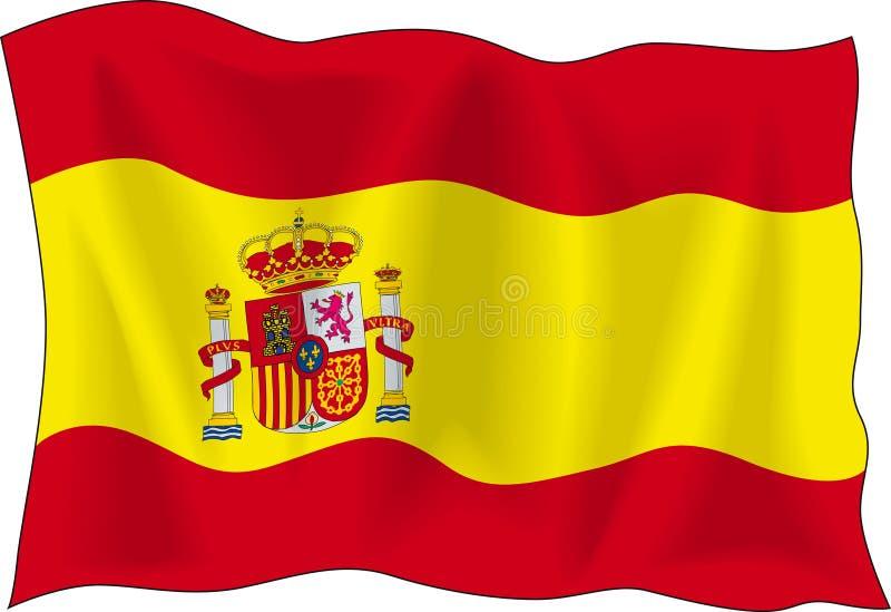banderą Hiszpanii