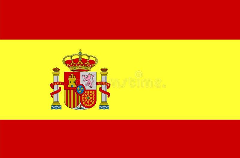 banderą Hiszpanii fotografia royalty free