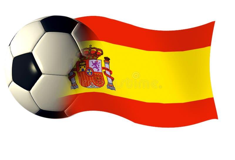 banderą Hiszpanii royalty ilustracja