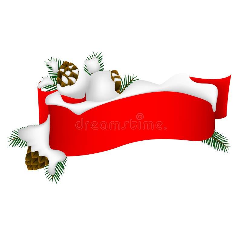Bandera 2 de la Navidad ilustración del vector