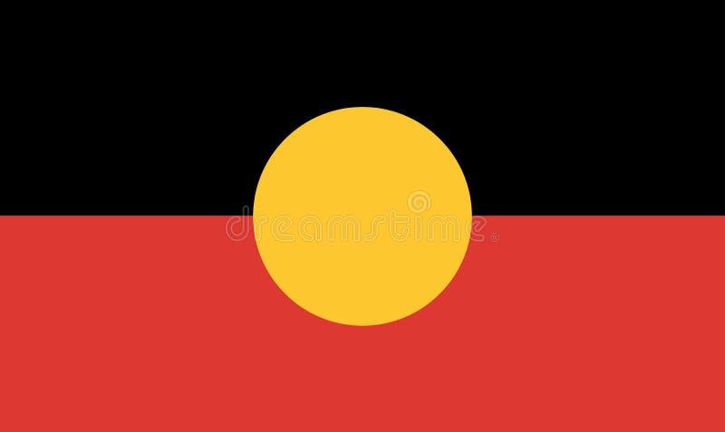 Bandera aborigen australiana stock de ilustración