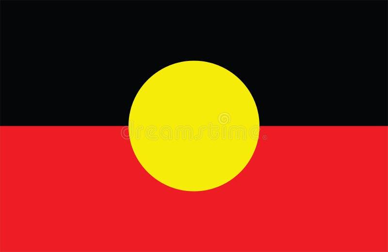 Bandera aborigen australiana bandera de Aborigin, Australia ilustración del vector