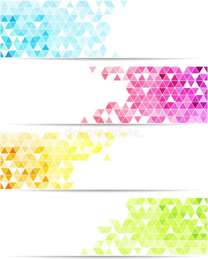 Bandera abstracta ilustración del vector