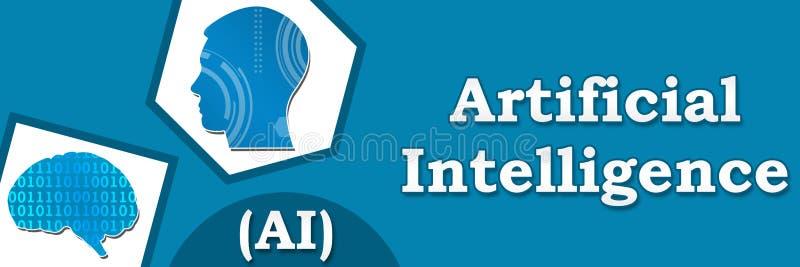Bandera abstracta azul de la inteligencia artificial