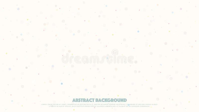 Bandera abstracta con los puntos coloridos sobre el fondo blanco stock de ilustración