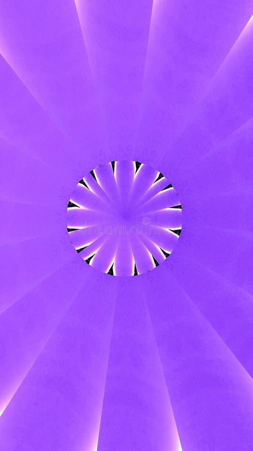 Bandera abstracta de Kalaidoscope en sombras de la púrpura y de la lavanda ilustración del vector