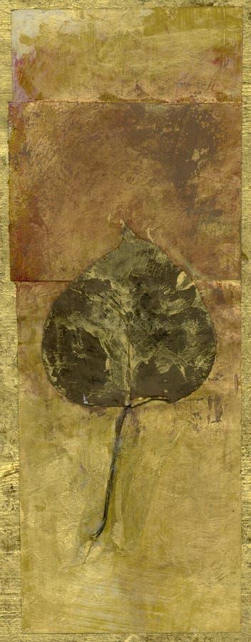 Bandera abstracta de la hoja stock de ilustración