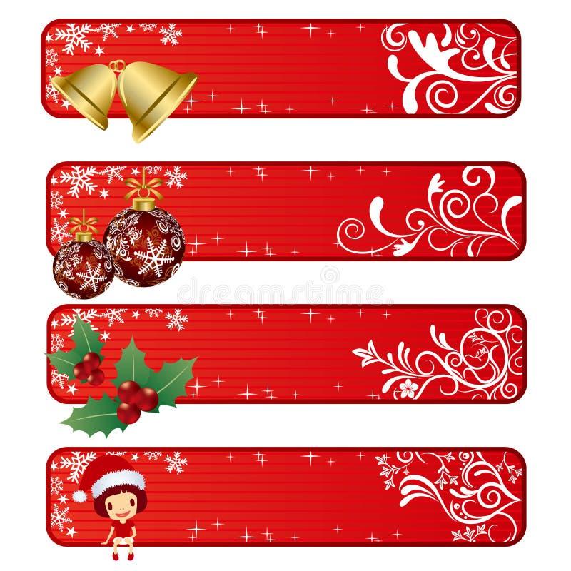 Bandera abstracta de la Navidad stock de ilustración