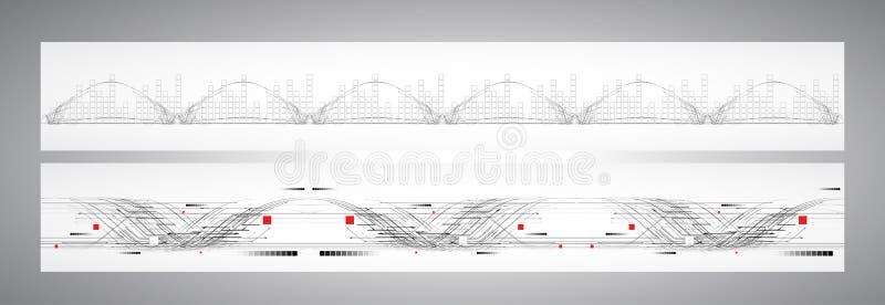 Bandera abstracta de la solución del negocio de la informática de Internet libre illustration