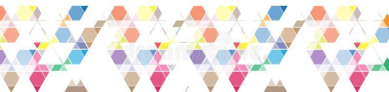 Bandera abstracta del fondo del triángulo de la malla del color para el jefe del sitio libre illustration