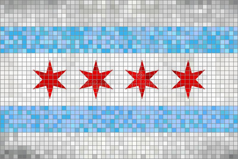Bandera abstracta del mosaico de Chicago libre illustration