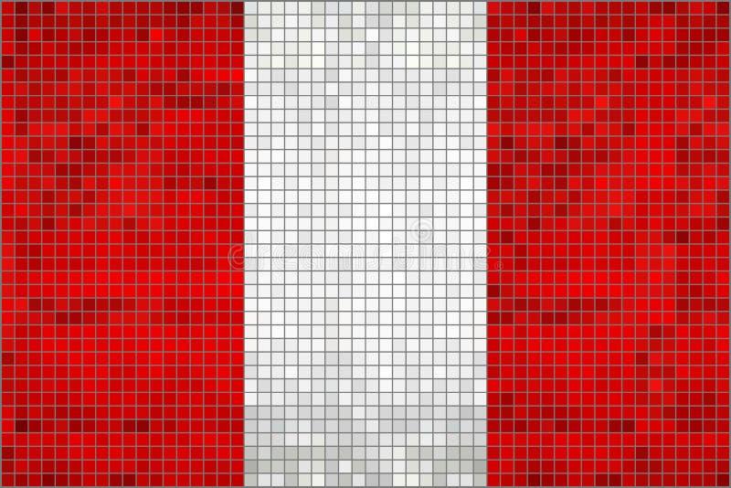 Bandera abstracta del mosaico de Perú ilustración del vector