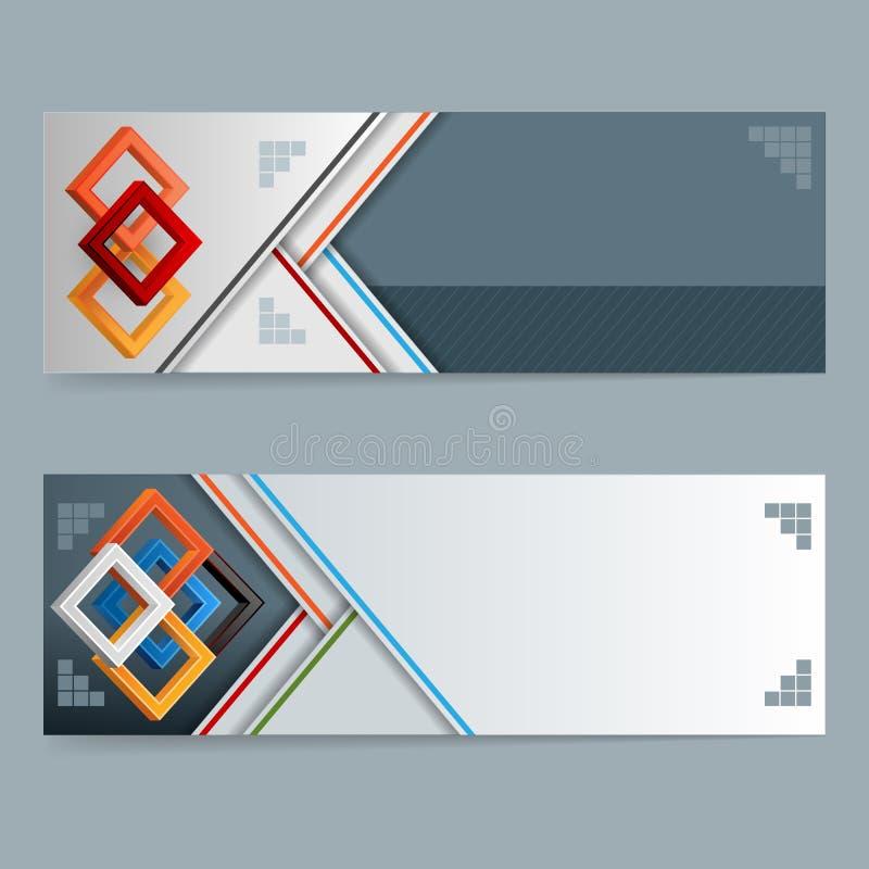 Bandera abstracta del web del diseño; Plantilla de la disposición del jefe libre illustration