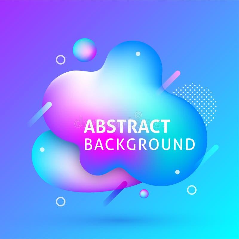 Bandera abstracta líquida del fondo ilustración del vector