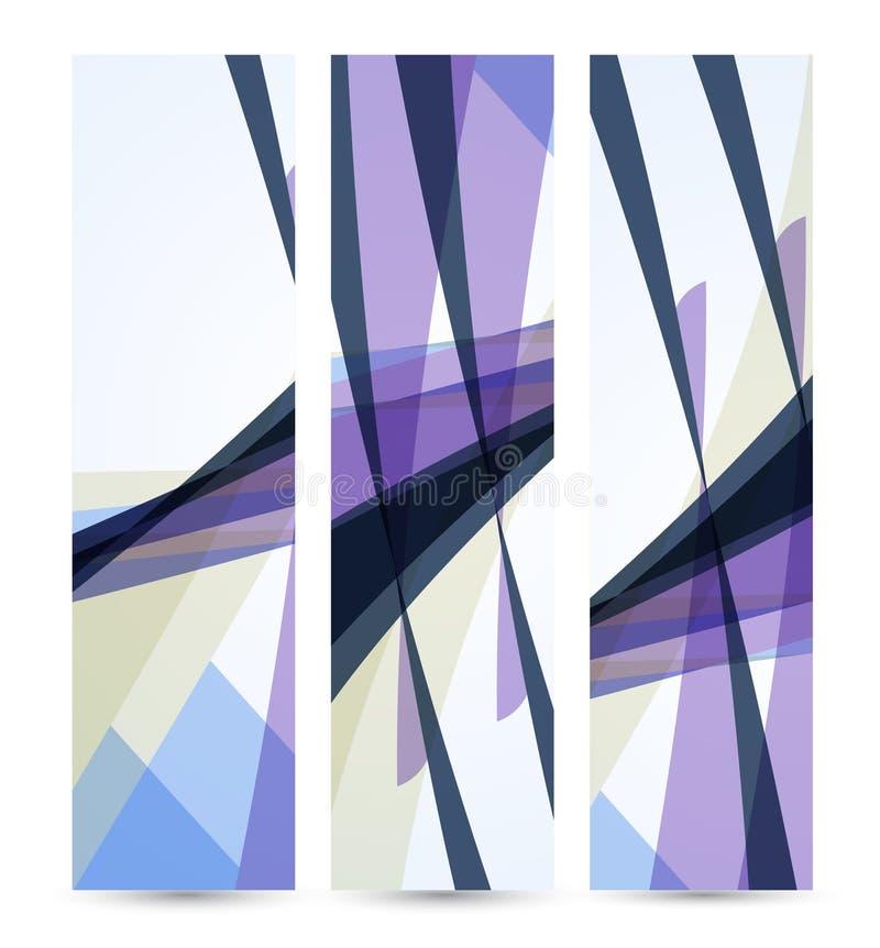 Bandera abstracta para su diseño, digital colorido stock de ilustración