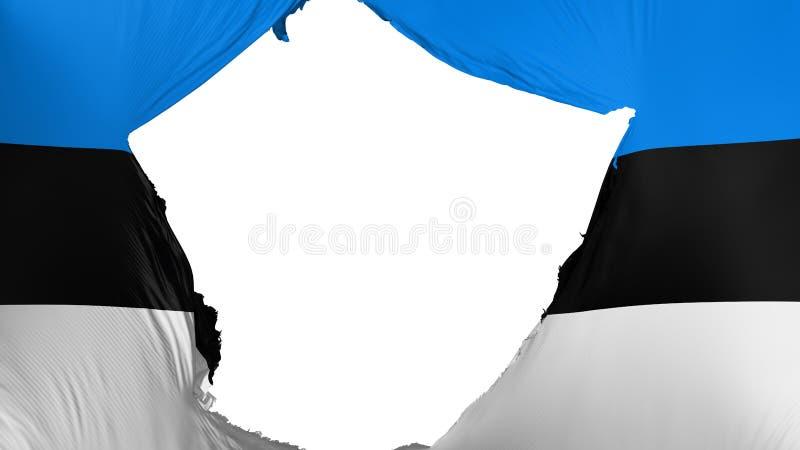 Bandera agrietada de Estonia stock de ilustración