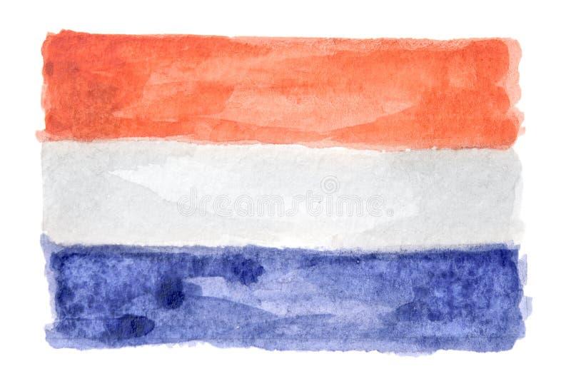 Bandera aislada acuarela fotografía de archivo