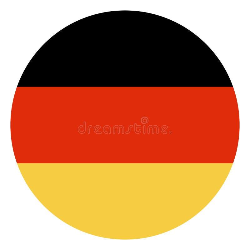 Bandera alemana en círculo stock de ilustración