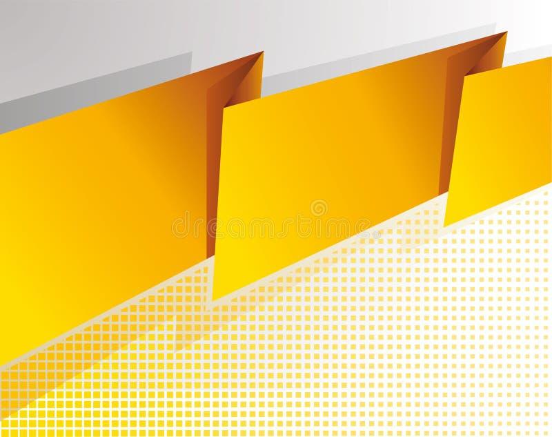 Bandera amarilla abstracta stock de ilustración
