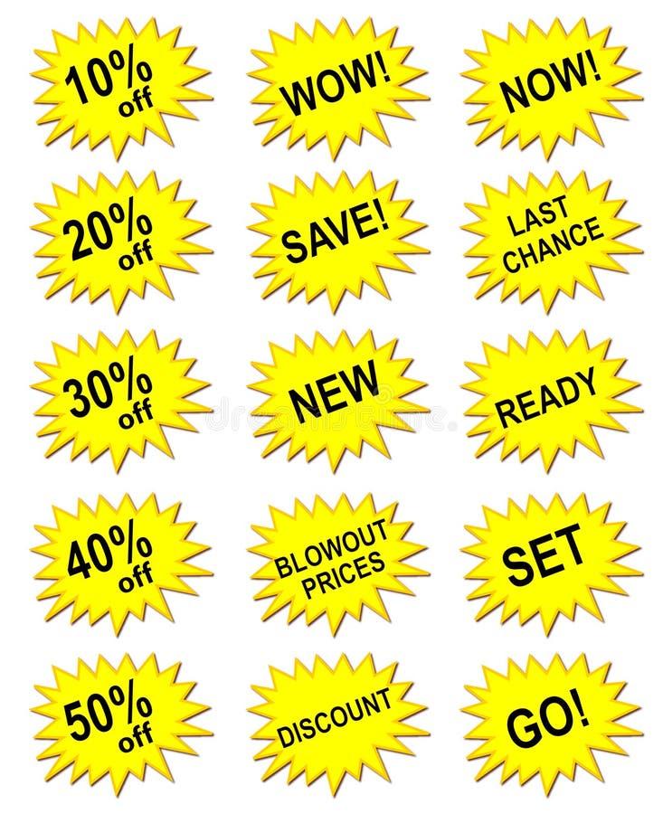 Bandera amarilla de la comercialización libre illustration