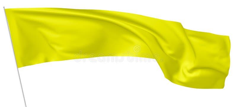 Bandera amarilla larga en asta de bandera libre illustration