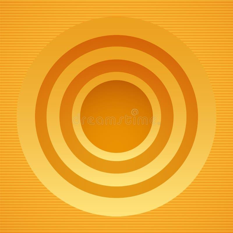 Bandera amarilla redonda stock de ilustración
