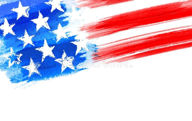 Bandera americana de los E.E.U.U. del Grunge como fichero acodado del vector ilustración del vector
