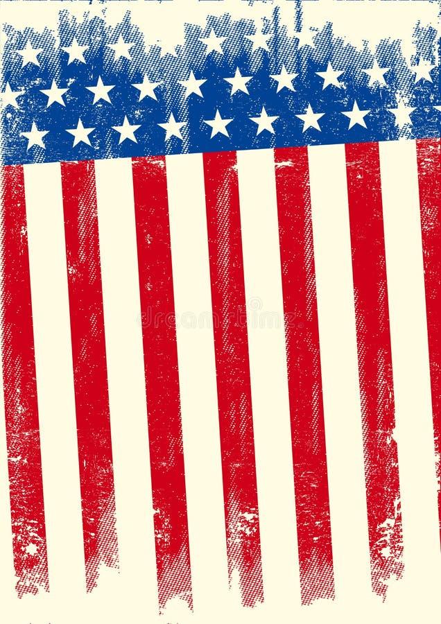 Bandera americana del grunge stock de ilustración